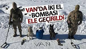 Van'da 2 el bombası ele geçirildi - işte o anlar
