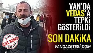 Van'da VEDAŞ'a tepki gösterildi - Videolu