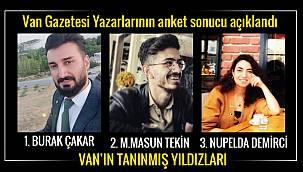 Van Gazetesi Yazarlarının anket sonucu açıklandı
