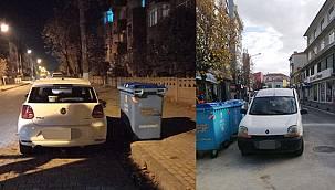Yeni uygulama başladı - Çöp konteyneri önüne park yapmak yasaklandı