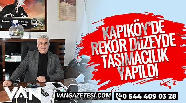Kapıköy'de Rekor Düzeyde Taşımacılık Yapıldı
