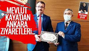 Mevlüt Kaya, Ankara'da bir dizi ziyaretler de bulundu