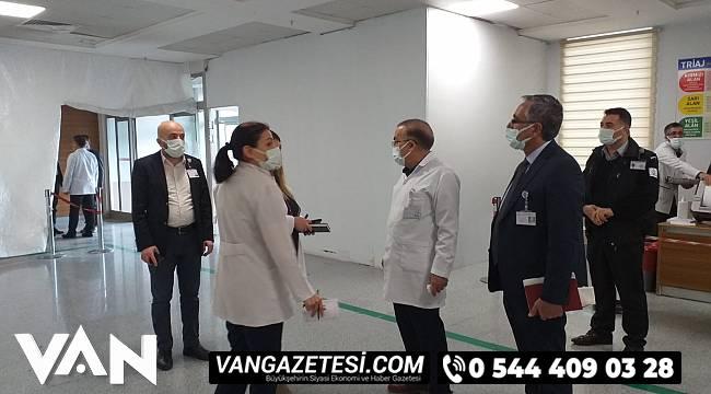 Van bölge Hastahanesinde sıkı denetimler sürüyor