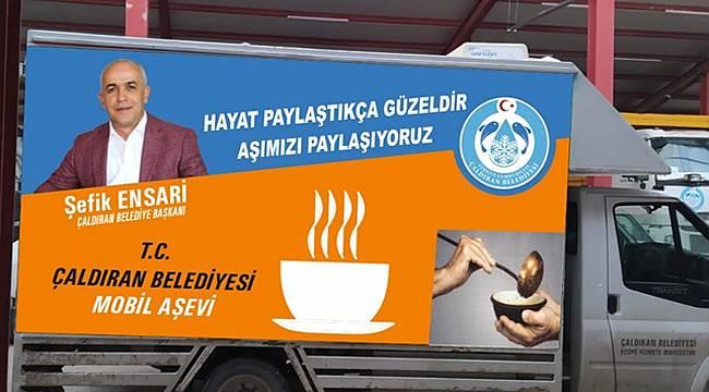 Van Çaldıran'da Mobil Aşevi hizmeti devam ediyor