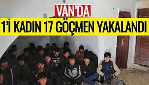 Van'da 1'i Kadın 17 Göçmen Yakalandı
