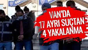 Van'da 17 Ayrı Suçtan 4 Yakalanma