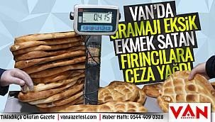 Van'da gramajı eksik EKMEK satan fırıncılara ceza yağdı