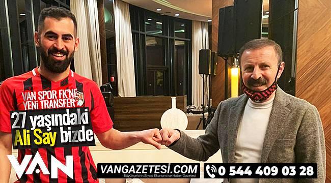 VAN SPOR FK'NE YENİ TRANSFER - 27 yaşındaki Ali Say bizde