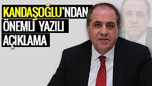 Zahir Kandaşoğlu'ndan Önemli Yazılı Açıklama