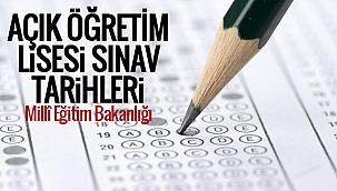 Açık Öğretim Lisesi Sınavı, Türkiye Cumhuriyeti Millî Eğitim Bakanlığı