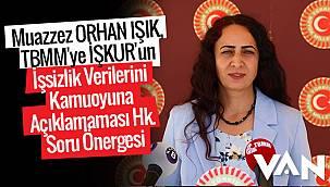 Muazzez ORHAN IŞIK, TBMM'ye İŞKUR'un İşsizlik Verileri hakkında soru önergesi