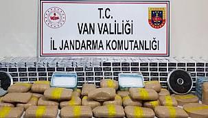 Van'ın Başkale ilçesinde bulunan bir evde 69 kilogram uyuşturucu