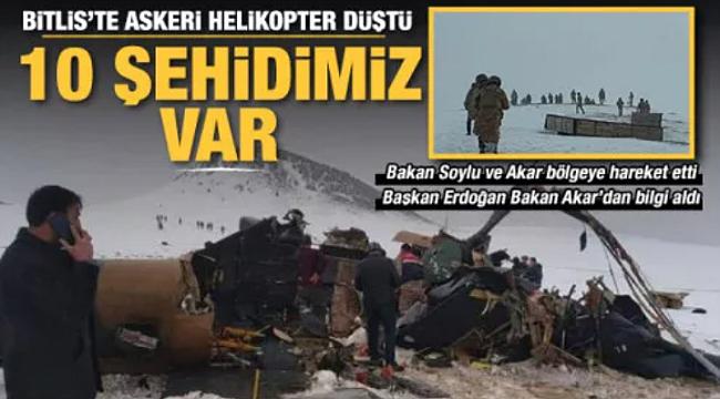 Bitlis'te düşen uçak hakkında detaylar ortaya çıktı - YÜREĞİMİZ DAĞLANDI