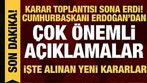Son dakika Vanhaber: Van'da yasaklar kalttı - Cumhurbaşkanı Erdoğan Kabine toplantısı açıklaması