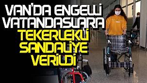 Van'da engelli vatandaşlara 7 tane tekerlekli sandalye