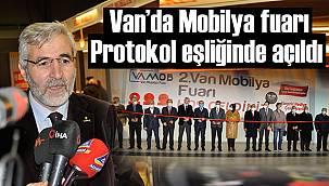 Van'da Mobilya fuarı Protokol eşliğinde açıldı