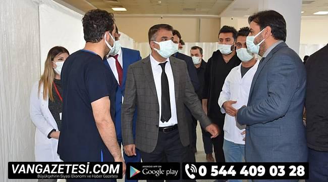 İl Sağlık Müdürü Sünnetçioğlu VEAH Yoğunbakım İnşaatını İnceledi
