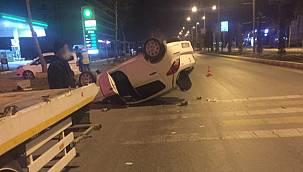 Van'da köpeği ezmemek için kaza yaparak takla attı – Yaralılar var