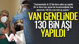 Van Genelinde 130 Bin Aşı Yapıldı
