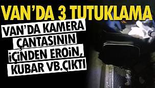 Van Haber: Van'da kamera çantasının içinde eroin, kubar, bonzai çıktı – 3 tutuklama