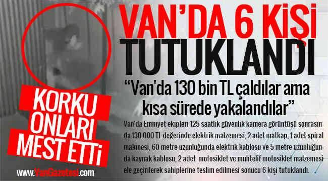 Van'da 130 bin TL çaldılar ama kısa sürede yakalandılar