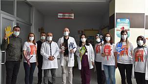 Van'da hastane görevlileri '5 Mayıs Dünya El Hijyeni Günü'nü böyle kutladı