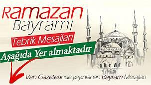 Van Gazetesinde yayınlanan Bayram Mesajları