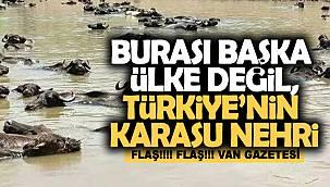 Burası başka ülke değil Türkiye'nin Karasu Nehri