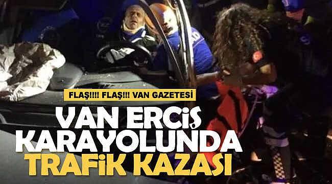 Van Erciş karayolunda trafik kazası, 1 yaralı
