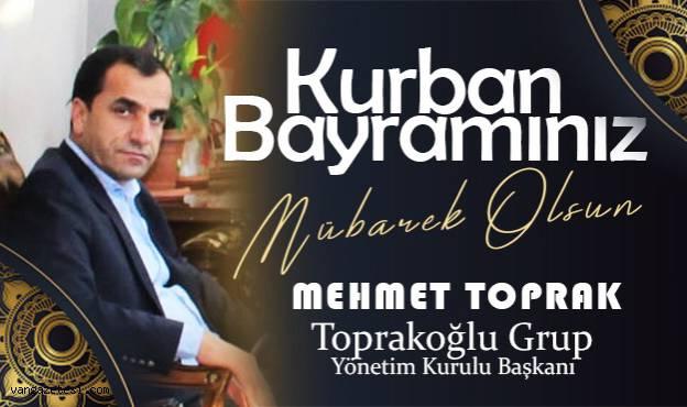 Mehmet Toprak'tan Kurban Bayramı Mesajı