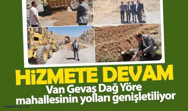 Van Gevaş Dağ Yöre mahallesinin yolları genişletiliyor
