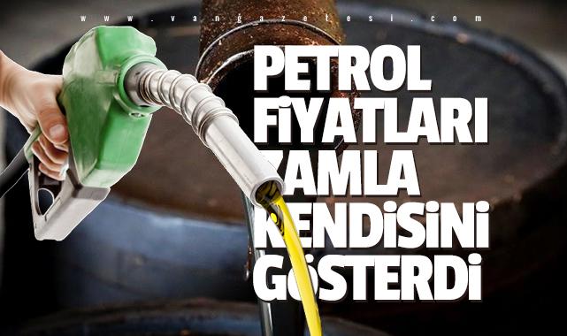 Petrol fiyatları kendisini zamla gösterdi