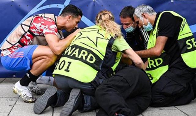 Ronaldo'nun şutu sonrası bayılan kadının sonu