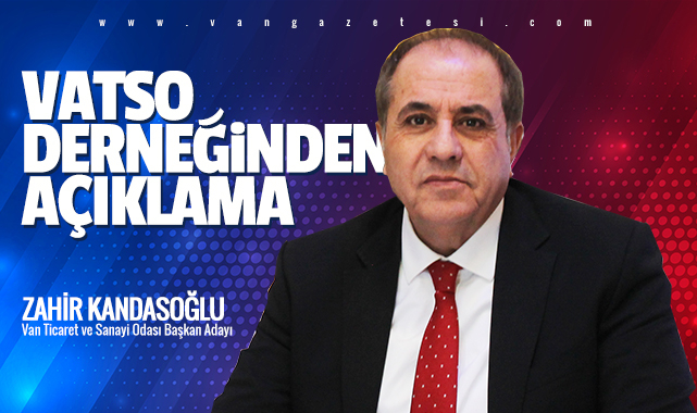 VATSO DERNEĞİNDEN AÇIKLAMA - Seçim 2022'de