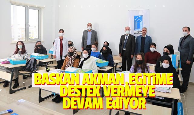 Başkan Akman,Eğitim Destek Vermeye Devam Ediyor