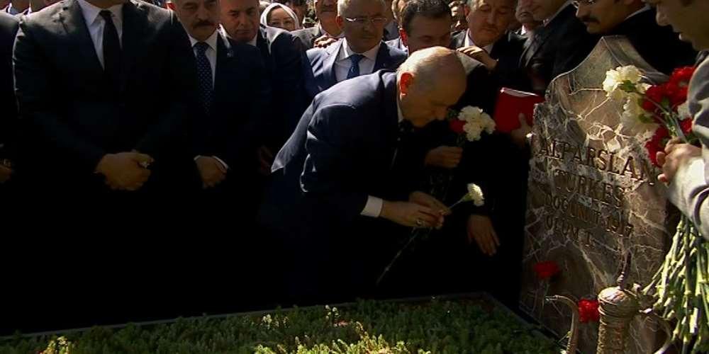 Alparslan Türkeş Kabri Başında Anıldı