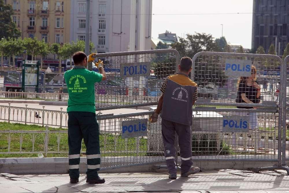 Taksim'de 'lgbti' Önlemi