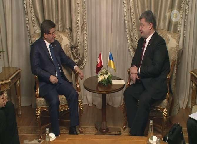 Ukrayna Cumhurbaşkanı Poroşenko İle Görüştü