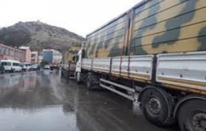 Kuzey Irak sınırına konteyner sevkıyatı yapıldı.