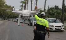 Van'da bayram öncesi drone desteği ile trafik denetimi