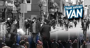 Van'da sokaklar yine tıklım tıklım - Bankalarda kuyruk , Ptt'de kuruk