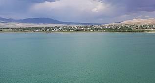 Van Erçek Gölünü hiç böyle gördünüz mü?