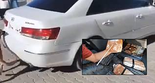 Van'da aracın koltuğunun içine neler saklanmadı ki - İşte o video