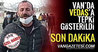 Van'da Vatandaşlar VEDAŞ'a tepki gösterdi