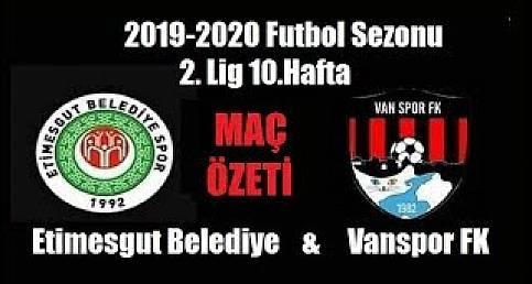 Etimesgut Belediye - Vanspor FK Maç Özeti (2019)