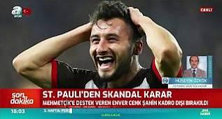 Son Dakika: St. Pauli'den Skandal Karar! Enver Cenk Şahin Kadro Dışı Bırakıldı! / A Spor /14.10.2019