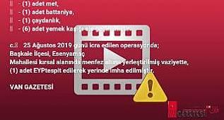 Van'da Kıran Operasyonundan Malzeme Depolarına Darbe van gazetesi